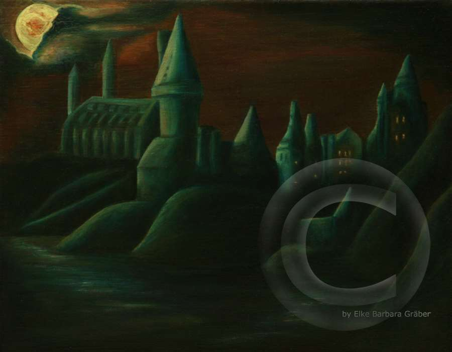 Hogwarts  Öl auf Leinwand (oil on canvas), 24x30cm, 2007