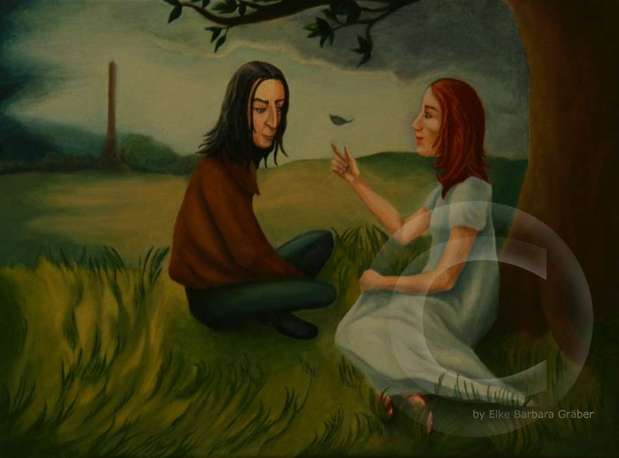 Snape & Lily - Jugend 2 (Youth 2)  Öl auf Leinwand (oil on canvas), 30x40cm, 2007